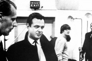 Epstein-and-Martin-in-Beatles-EMI-studio-in-1966.