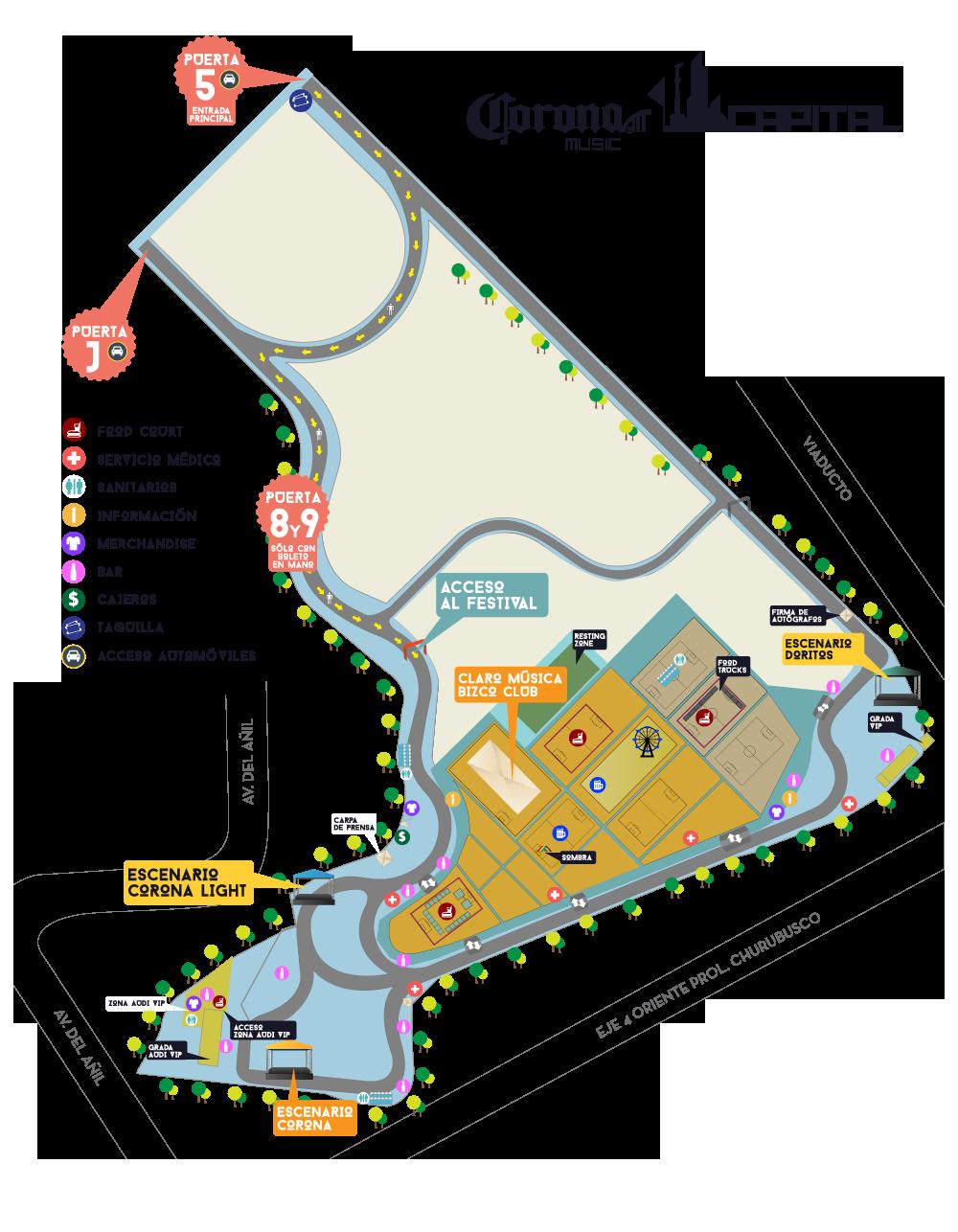corona capital 2014 mapa