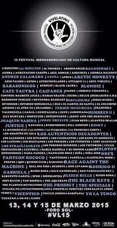 Cartel Horarios Vive Latino Vive Latino 2015 Cartel Falso