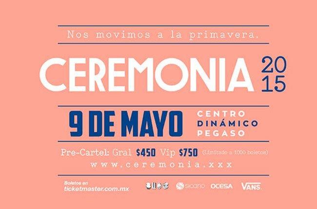 Boletos gratis para el Festival Ceremonia 2015