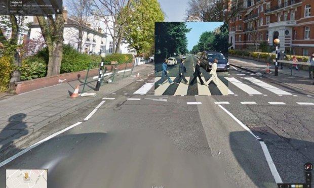 Las portadas de discos vistas a través de Google Street View