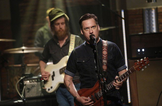 LATE NIGHT WITH SETH MEYERS -- Episode 233 -- Pictured: Isaac Brock of musical guest Modest Mouse on July 20, 2015 -- (Photo by: Peter Kramer/NBC)