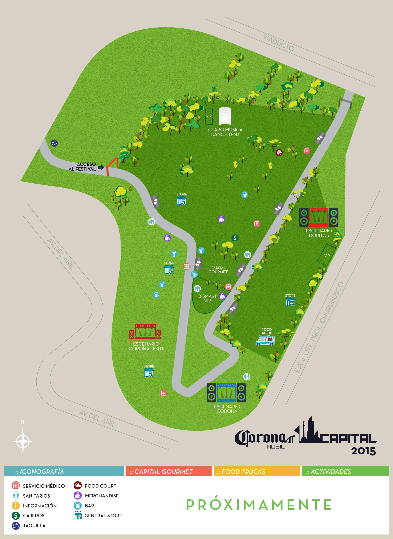 corona capital 2015 mapa oficial