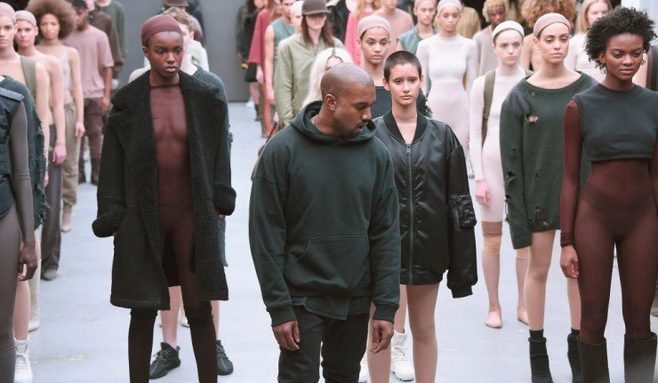 NEW YORK, NY - FEBRUARY 12:  Kanye West attends the adidas show during Mercedes-Benz Fashion Week Fall 2015 at Skylight Clarkson SQ. on February 12, 2015 in New York City.  (Photo by Gary Gershoff/WireImage) ORG XMIT: 537232889 ORIG FILE ID: 463291000