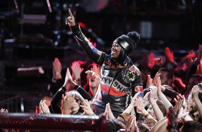 """THE VOICE -- """"Live Finale"""" Episode 918B -- Pictured: Missy Elliott -- (Photo by: Tyler Golden/NBC)"""